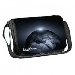 Moon 1 design Personalised Gift Messenger / School / Sleepover Bag. Full Colour