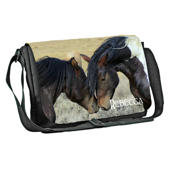 Equestrian, Horse, Personalised Gift Messenger / School / Sleepover Bag.