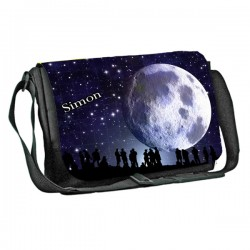 Moon in Full design Personalised Gift Messenger / School / Sleepover Bag. Full Colour