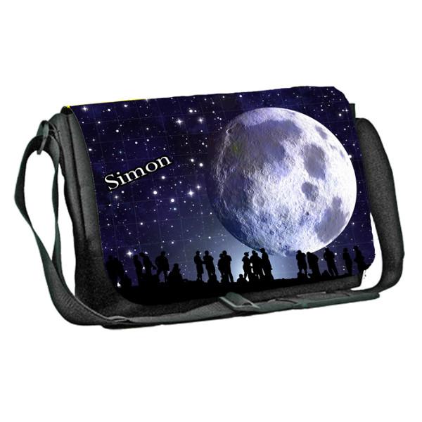 Moon in Full design Personalised Gift Messenger / School / Sleepover Bag. Full Colour