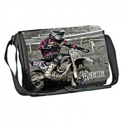 Motor Cross design Personalised Gift Messenger / School / Sleepover Bag. Full Colour