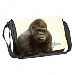 Silver-back Gorilla Personalised Gift Messenger / School / Sleepover Bag.