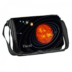 Solar System design Personalised Gift Messenger / School / Sleepover Bag. Full Colour