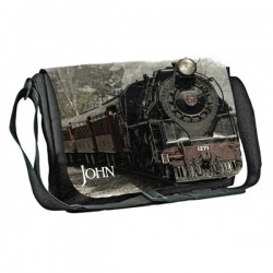 Train Steam Personalised Gift Messenger / School / Sleepover Bag.