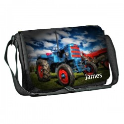 Tractor design Personalised Gift Messenger / School / Sleepover Bag. Full Colour