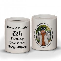 Photo Ceramic Money Box Personalised With your pictures