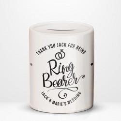 Ring Bearer Thank You, Ceramic Money Box Personalised Wedding Favour