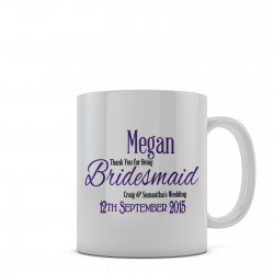 Thank you Gift for your wedding guest's personalised 11oz glossy white tea, coffee, ceramic mug.