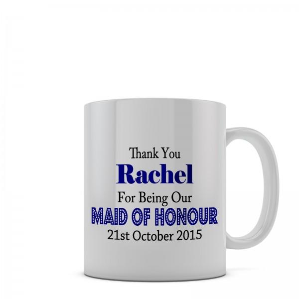 Personalised Wedding Gift Mug. 11oz glossy white tea, coffee, ceramic mug.
