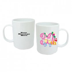 30th Birthday Mug. 15oz Standard Mug In White.