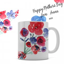Mothers Day personalised 11oz glossy white tea, coffee, ceramic mug.