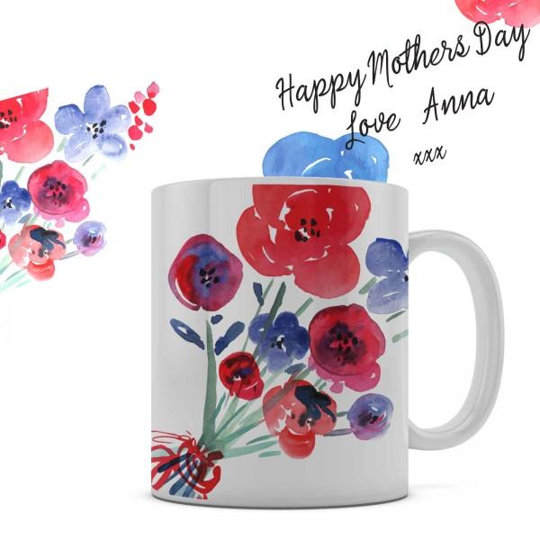 Mothers Day personalised 11oz glossy white tea, coffee, ceramic mug.