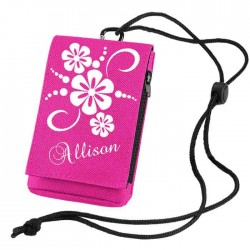 Personalised Mobile Phone / MP3 Case. In Pink with a pretty Floral Design