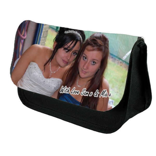Personalised Photo Make-up Bag. Upload your photo and text.
