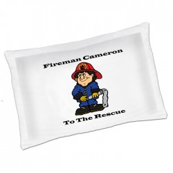 Fireman Pillowcase A Fun unusual Gift idea Personalised Luxury Pillow Cases,Great fun for your kids bedroom