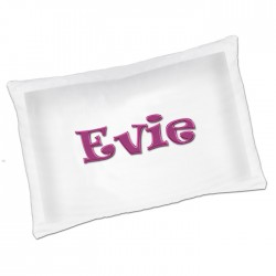 A Fun unusual Gift idea Personalised Luxury Pillow Case. Pink Name.Great fun for your kids bedroom