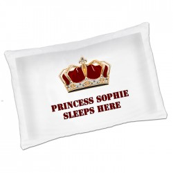 Pricess Crown Fun unusual Gift idea Personalised Luxury Pillow Cases,Great fun for your kids bedroom