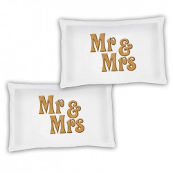 A Pair Of Mr & Mrs Personalised Luxury Pillow Cases, A Lovely Gift Idea For The Bedroom