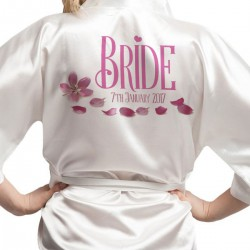 Personalised Ivory Satin Robe. Wedding Favours For The Whole Wedding Party, Bridesmaid. Bride