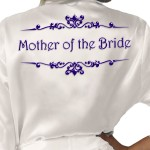 Personalised Ivory Satin Robe. Colour Options Scroll Design, Wedding Favours For The Whole Wedding Party, Bridesmaid. Bride
