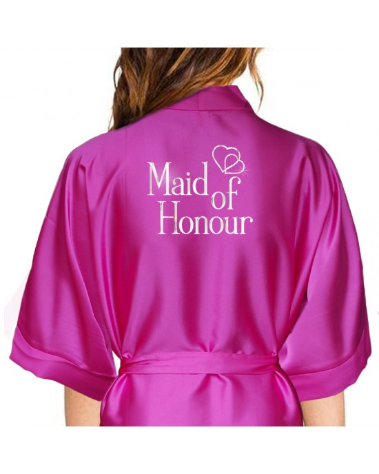 official how to find top-rated fashion Personalised Hot Pink Satin Robe For Wedding Party Bride, Bridesmaid,  Flower Girl