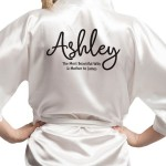 Personalised Satin Robe, in colours could be a lovely mothers day gift.