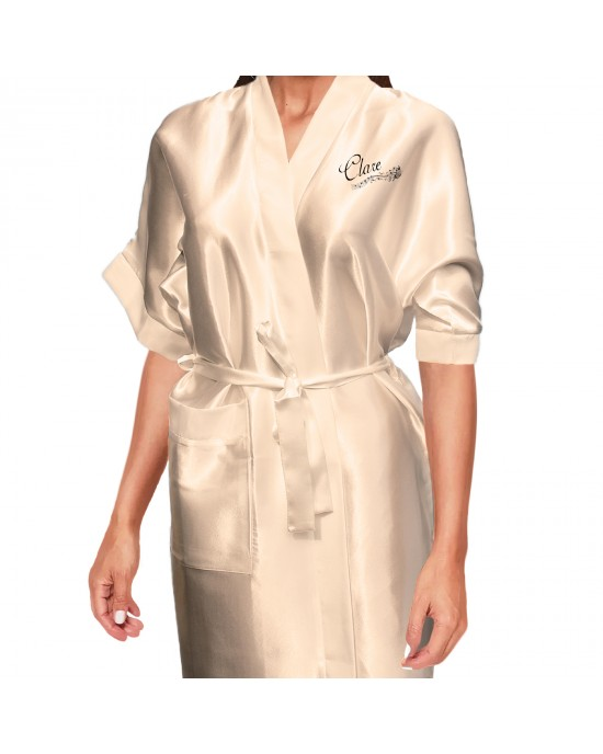 350de31278 Beautiful Effect Butterfly Personalised Satin Robe In All Colours. Wedding  Favours For The Whole Wedding