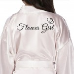 Children's / Kids satin wedding bridal party gown. Black Print Hearts, Perfect wedding favour for your little flower girls or bridesmaids.