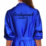 Personalised Brush Print Satin Robe. Colour Robes Avalable.