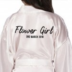 Personalised Brush Print Satin Robe. Colour Robes Available. Children's, Kids Robe For Your Little bridesmaids, flower girls