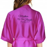 Beautiful Elegant Personalised Satin Robe. Available In Colours For The Whole Wedding Party, Bridesmaid. Bride