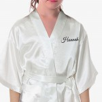 Children's / Kids Satin Robe. Bride & Groom Fancy Scroll design. Perfect for your Little flower girls or bridesmaids.