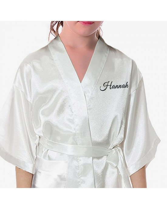 0c331bc4a3870 Children's / Kids Satin Robe. Bride & Groom Fancy Scroll design. Perfect  for your