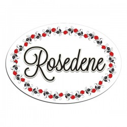 Pretty Roses Border, Door, House, Number, Name, Sign, Plaque. Customised Free