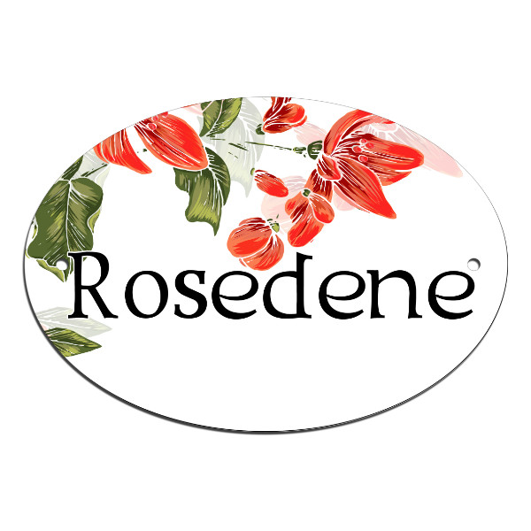 Pretty Rose Blossom Border, Door, House, Number, Name, Sign, Plaque. Customised Free