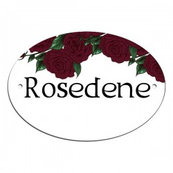 Pretty Deep Red Rose Blossom Border, Door, House, Number, Name, Sign, Plaque. Customised Free