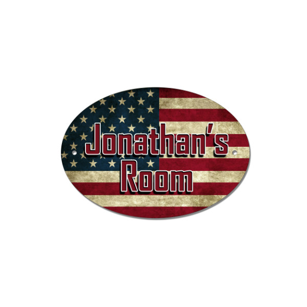 Stars & Stripes Door, House, Number, Name, USA Flag Sign, Plaque. Customised Free