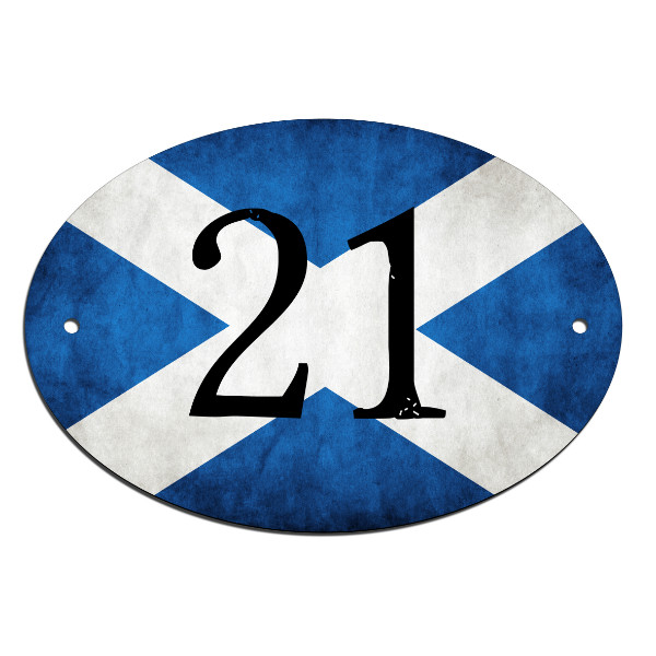 Door, House, Number, Name, Scottish Flag Sign, Plaque. Customised Free