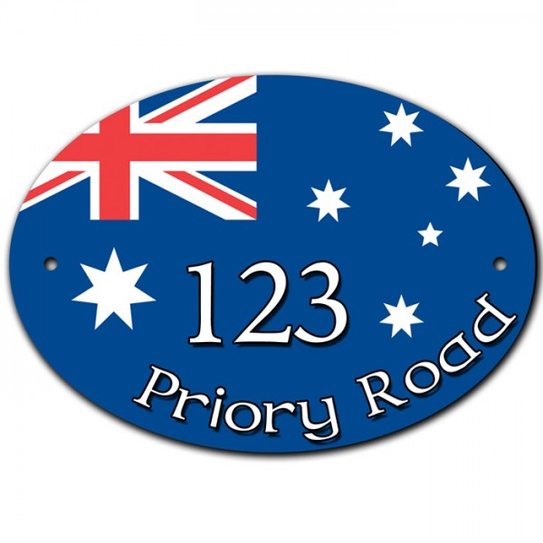Australian House Home Door Gate Number Sign, Plaque. Customised Free