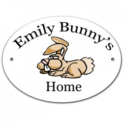 Rabbit Hutch Sign Plaque. With you rabbits name