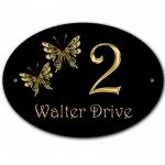 Butterfly design House, Gate, Door, Plate, Plaque Sign. Can be Personalised