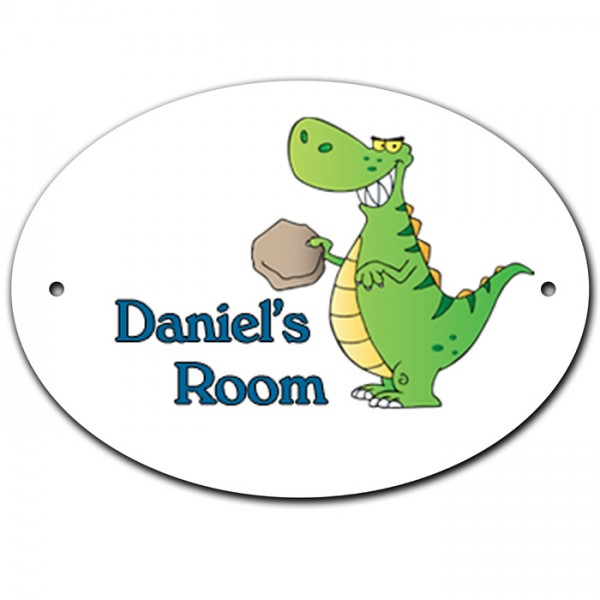 Dinosaur Room, Door, Name, Plaque, Sign. Personalised With Your Child's Name