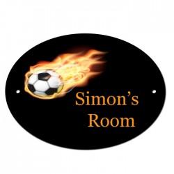 Bedroom Door Football Sign, Plaque. Customised Free