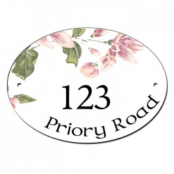 Roses House Number, Gate, Door, Plate, Plaque Sign. Can be Personalised
