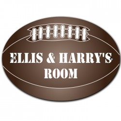 Rugby Ball Door Room Sign