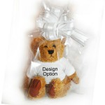 Gift Wrapped Blue butterfly design Personalised Teddy Wedding Favour Page Boy Bridesmaid Flower girl 2 Sizes.