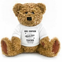 Thank you Gift Wrapped Personalised Teddy Bear 2 Sizes Available. Gifts for teacher,