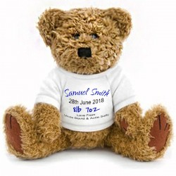 Personalised New Born Gift Teddy. Change the Text to personalise
