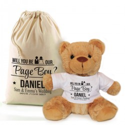 Will you be our Page Boy personalised Brown Teddy Bear Gift.
