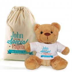 Personalised Brown Teddy Bear Gift Thank You For Being Our Page Boy